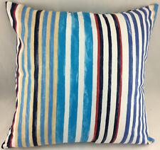 "Multi Colour Striped LARGE 20"" x 20"" Evans Lichfield Cushion Cover"