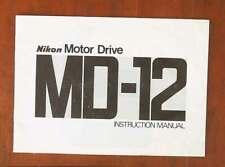 Nikon Motor Drive Md-12 Instruction Book/68961