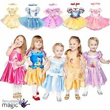 Girl Baby Toddler Disney Princess Fairy Tale Dress Up Fancy Dress Costume Outfit