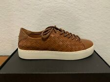 Frye Lena Woven Low Lace Women's Fashion Sneakers Athletic Leather Shoes