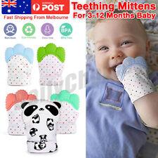 1 2X Silicone Baby Teether Teething Mitt Mitten Glove Safe BPA Free Chew  Dummy T f80915e8b83