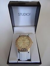 Women's Studio Quartz Leather Belt Wrist watch with Rhinestones SALE