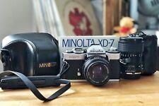 Minolta XD 7 mit zwei Objektiven MD Rokkor 50mm/1.7 und MD Zoom 28-70mm