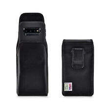 Belt Case fits Galaxy S10 with OTTERBOX DEFENDER Vertical Black Leather Clip