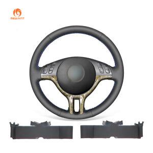 Leather Steering Wheel Cover Wrap for BMW 3 Series 325i E46 E46/5 X5 E53
