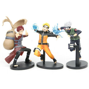 Anime Shippuden Naruto & Gaara & Kakashi Statue Figurine Action Figures Toys Set