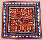 """22"""" x 21"""" Vintage Rabari Throw Embroidery Ethnic Tapestry Tribal Wall Hanging"""