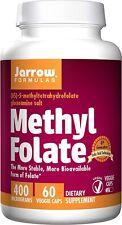 Jarrow Formulas Methyl Folate 5-MTHF 400 mcg 60 Capsules Formula Supports Brain