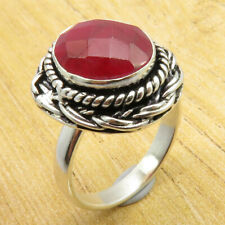 Ring 6.25 Size ! Simulated Ruby JEWEL Silver Plated Jewellery WHOLESALE PRICE