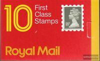 Großbritannien MH0-100 (kompl.Ausg.) postfrisch 1987 Königin Elisabeth II.