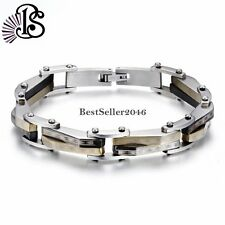 10mm Stainless Steel Link Chain Men's Bracelet 8.3 inch Bangle Father's Day Gift