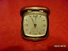 Vintage Red Westclox Travel Alarm Clock