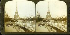 The perfec-Stereograph Photo Tour Eiffel Expo 1900 palais de l'électricité