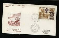 French  Antarctic  C121  on  cachet  cover  first  day     MS0523