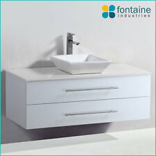 Chadwick 1200 White Vanity Unit Bathroom NEW Square Modern Ceramic Basin Stone