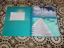 2014 Weekly/Monthly Calendar NOS Tropical durable spiral notebook 7x9 planner