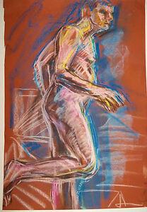""" RUNNING"" by Ruth Freeman PASTEL 14 1/2"" X 20 1/2"""
