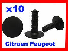 10 Citroen Peugeot Clip De Fijación, Tipo Abeto de coche de plástico fijaciones