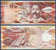 BARBADOS  10 Dollars  2013  UNC  P. 75