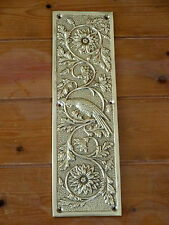10 x DOOR PLATES FINGER CAST BRASS PARROT PUSH FINGERPLATE BIRD
