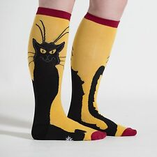 Chat Noir Black Cat Stretch-It™ Knee Highs New Unisex XL Women 12 Men 13 Fashion