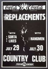 The REPLACEMENTS ORIGINAL Promo Concert Poster 1989 CLASH JAM Damned BUZZCOCKS