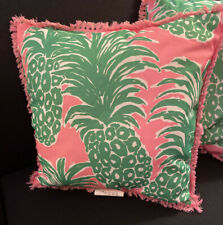 NWT  Pink-Gold Pineapple Lilly Pulitzer Two SidedPillow 18 by 18 Set of 4