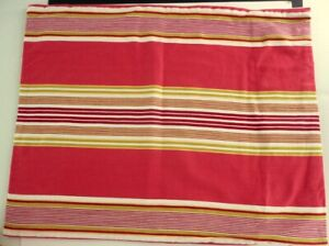 "Pottery Barn Red Multi Stripe Pillow Sham 24"" x 19"" Cotton Twill Cover"