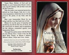 CATHOLIC HOLY CARD    CONSECRATION TO THE IMMACULATE HEART OF MARY