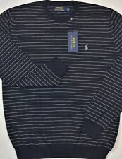 Polo Ralph Lauren Pima Cotton Navy Stripe Crewneck Sweater XXL NWT