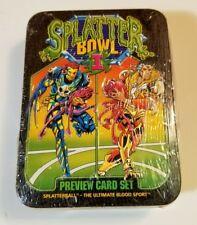 1993 SPLATTERBOWL I PREVIEW CARD SET TIN SEALED