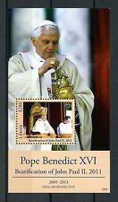 Liberia 2013 MNH Retrò PAPALE PAPA BENEDETTO XVI Beatification John Paul IV S / S STAMPS