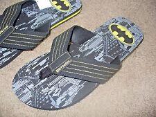Batman Men's DC Comics Super Hero Black Sandals Flip Flop Shoes Medium 9-10