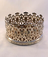 Beautiful Elkington & Co English Silverplate Pierced Wine Coaster-Ca. 1842-1864
