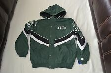 MENS XXL NEW NFL NEW YORK JETS STARTER JACKET COAT DETACHABLE HOOD