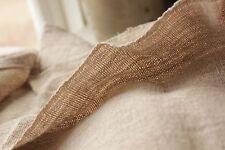 HEMP fabric antique linen 4yds PURE HEMP natural fabric organic material