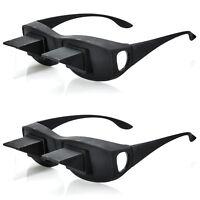 2er Set Fernseh Lese Prismabrille 90 Grad Blick TV Prisma Brille Winkelbrille