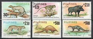 PHILIPPINES 1979 WILD LIFE ANIMALS COMP. SET OF 6 STAMPS SC#1403-1408 FINE USED