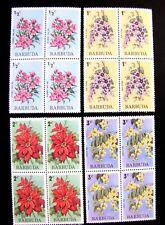 170-73 4-STAMP BLOCKS, FLOWERS MNH OG (SEE DESCRIPTION)