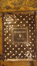 NEW Ralph Lauren Whitman Dot Black White 1 King Pillow Sham Polka Dot ARV $84.00