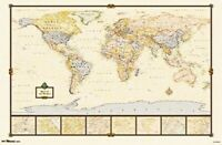 WORLD Wall Map Vintage  #13 Trends Intl RP6259 New Unopened
