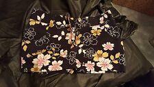 Charlotte Russe Black Floral Mini Skirt Size 5