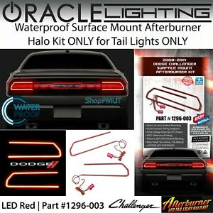 ORACLE Surface Mount Halo Kit for Taillights for 08-14 Dodge Challenger *LED Red