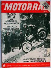 Zeitschrift Das Motorrad 1965 Nr.6 - Aermacchi Production-racer, Bullerjan Story