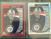 2015-16 Upper Deck Series 2 O-Pee-Chee Rookie Connor Hellebuyck x2 UD 15/16