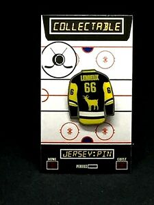 Pittsburgh Penguins Mario LeMieux jersey lapel pin-Classic RINK Collectable