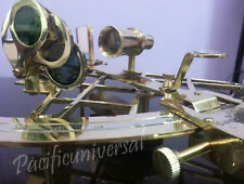"10"" Heavy Brass Nautical Sextant Vintage WOOD/ Box Marine Working XMAS GIFT."