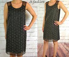 NEXT TAGGED £60 LADIES UK 8 BLACK EMBELLISHED SHIFT DRESS