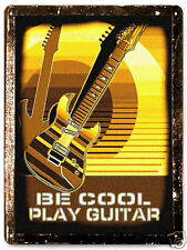 ELECTRIC GUITAR METAL sign  GREAT GIFT vintage style boys room wall decor 054