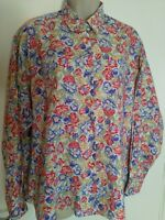 Rowlands Multi Floral Blouse XL Bust 48 Inch Length 28 Inch